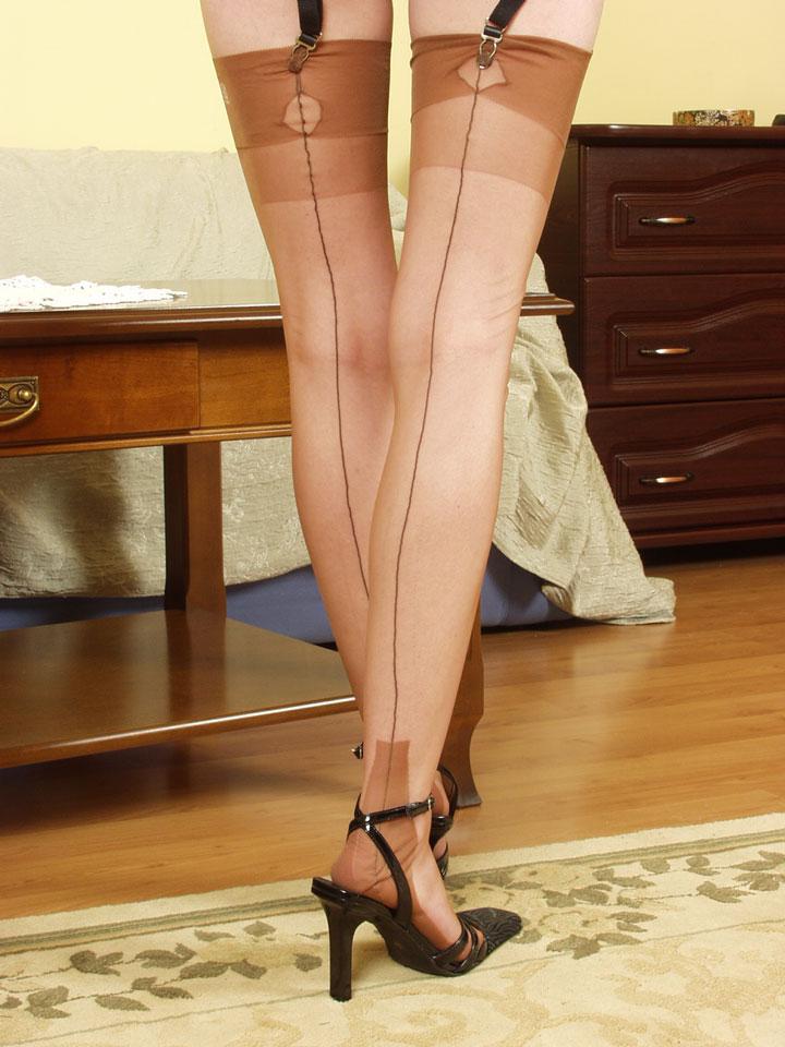 Vintage Full Fashion Dark Seam Stockings