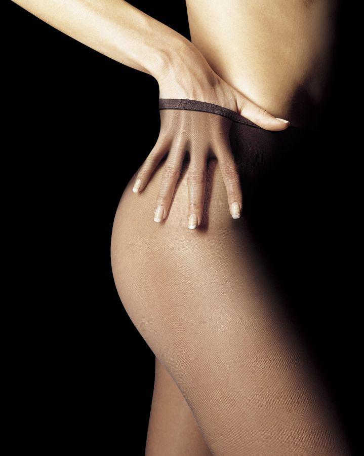Sheer to waist pantyhose no cotton panel